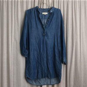 LOFT chambray dress